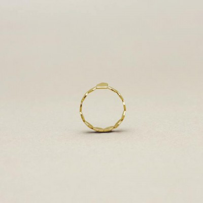 Makiami, seeds ring, 18k gold