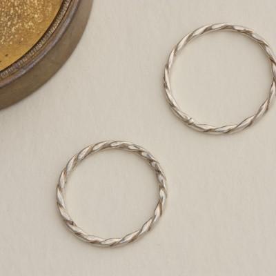 Twist, ring, silver