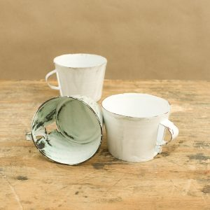 The cup, enamel, steel