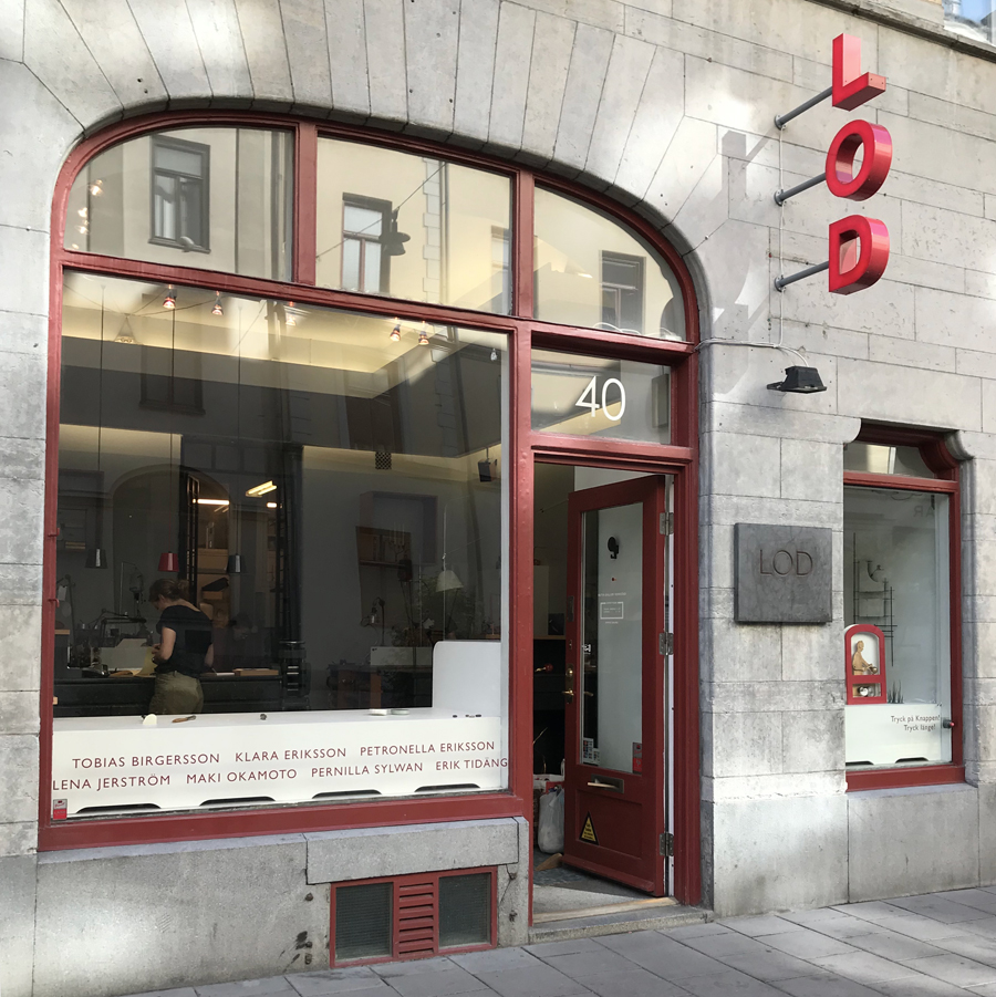 LOD gallery / shop / workshop in Kungsholmen, Stockholm, Sweden.