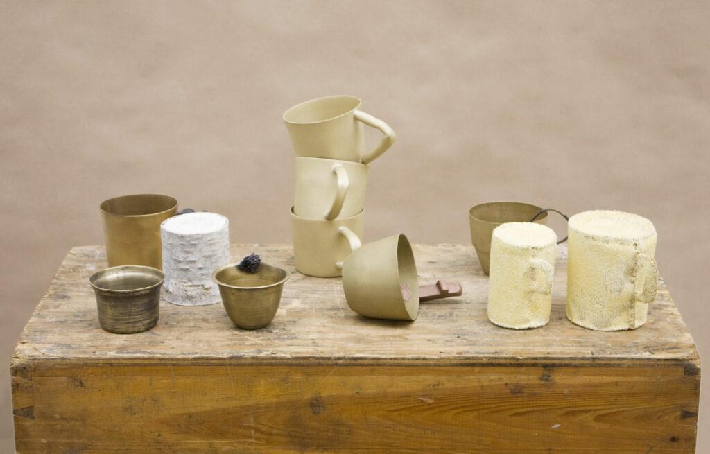 The cup, mixed media art work by Maki Okamoto