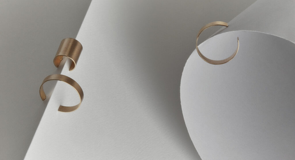 Paper Tape earrings by Makiami. Handcrafted jewellery made in Sweden. Photo by Rikard Lilja